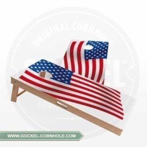 2 Cornhole Boards with a American flag to play at any party!