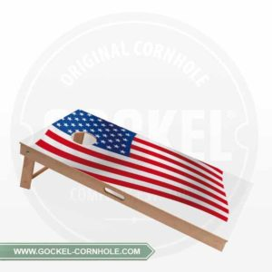 Cornhole Board with a American flag print to play at any party!