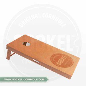 Cornhole board, with natural oil and burned Gockel logo!