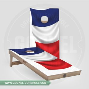 2 Cornhole Boards with a French flag to play at any party!