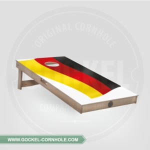 Cornhole Board with a German flag print to play at any party!