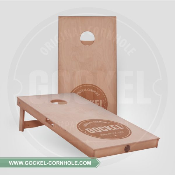 2 Cornhole boards, with natural oil and burned Gockel logo!