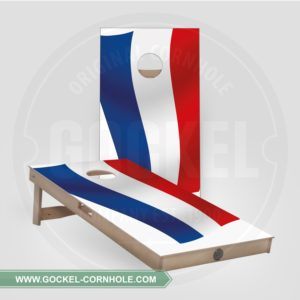 2 Cornhole Boards with a Dutch flag to play at any party!