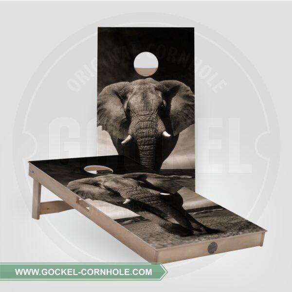 Cornhole boards - elephant