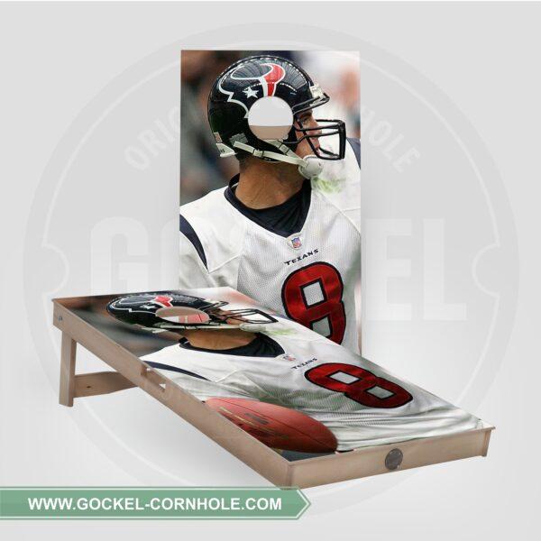 Cornhole boards - American football player