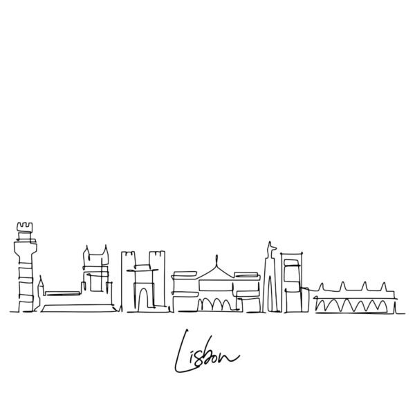 Cornhole sticker - skyline Lisbon