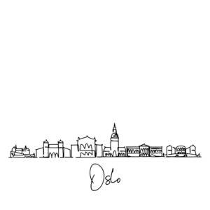 Cornhole sticker - skyline Oslo
