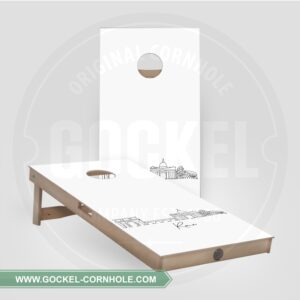 2 Cornhole Boards with a skyline print of Rome!