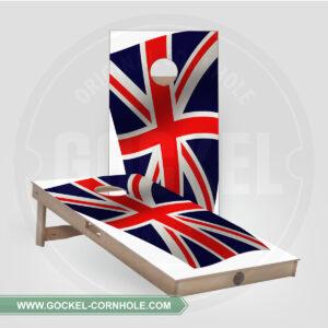 SET - CORNHOLE BOARD WITH AN ENGLISH FLAG PRINT