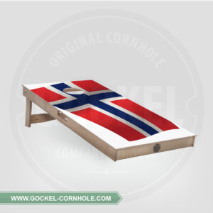 Cornhole Board - Norwegian flag
