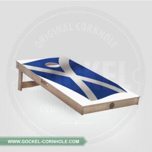 Cornhole Board - Scottish flag