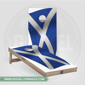 SET - CORNHOLE BOARD WITH A SCOTTISH FLAG PRINT