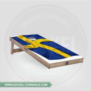 Cornhole Board - Swedish flag